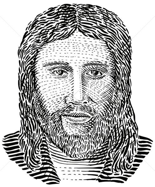 Jesus Christ engraving front view Stock photo © patrimonio