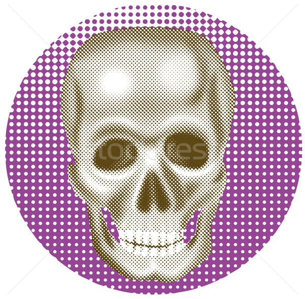Rendered skull halftone dots Stock photo © patrimonio