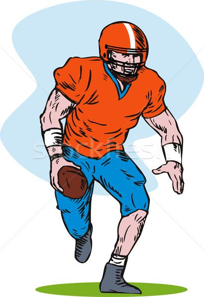 Football player running with ball Stock photo © patrimonio