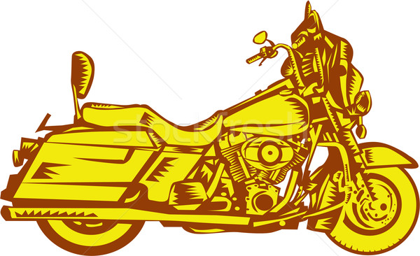 Motocicleta motocicleta ilustração lado conjunto isolado Foto stock © patrimonio