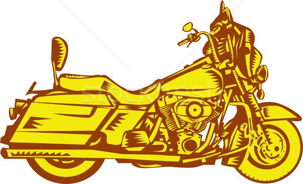 Moto moto illustration côté isolé Photo stock © patrimonio