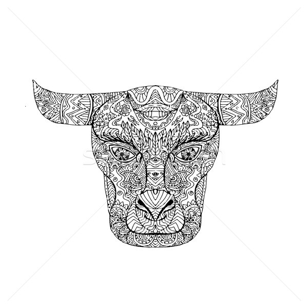 Taurus Bull Head Mandala Stock photo © patrimonio