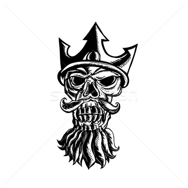 Skull of Neptune Sratchboard Stock photo © patrimonio
