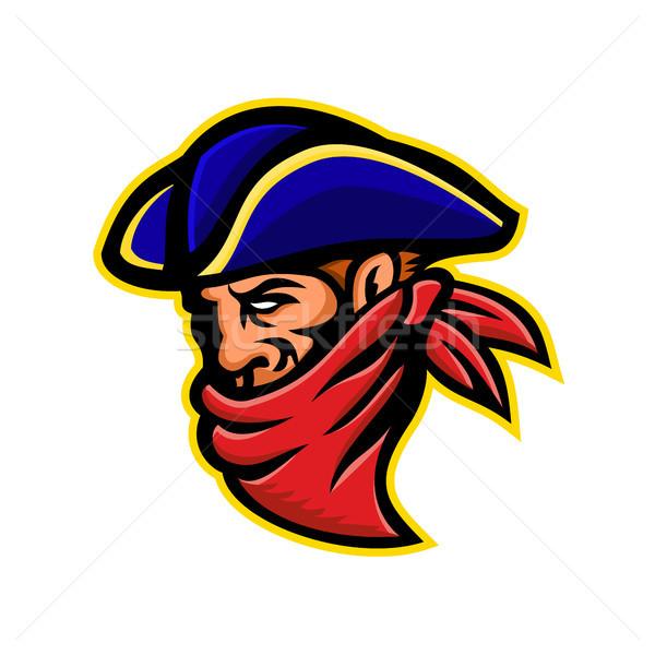 Highwayman or Robber Mascot Stock photo © patrimonio