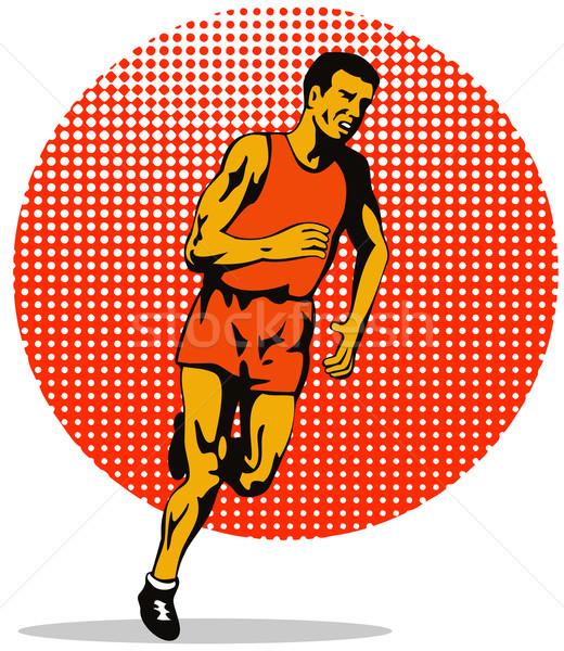 Marathon Runner Athlete Running Stock photo © patrimonio