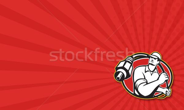 Cable TV Installer Guy Stock photo © patrimonio