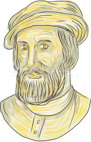 Hernan Cortes de Monroy Drawing Stock photo © patrimonio