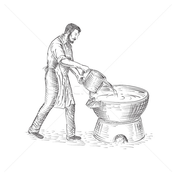 Vintage Candlemaker Foundry Drawing Stock photo © patrimonio