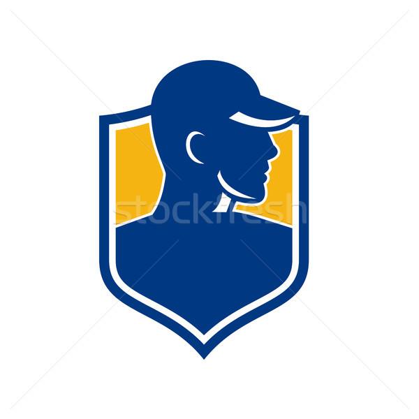 промышленных работник гребень икона стиль иллюстрация Сток-фото © patrimonio