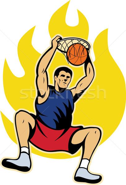 Pelota ilustración fuego bola de fuego aislado Foto stock © patrimonio