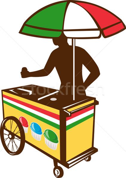 Italian Ice Push Cart Retro Stock photo © patrimonio