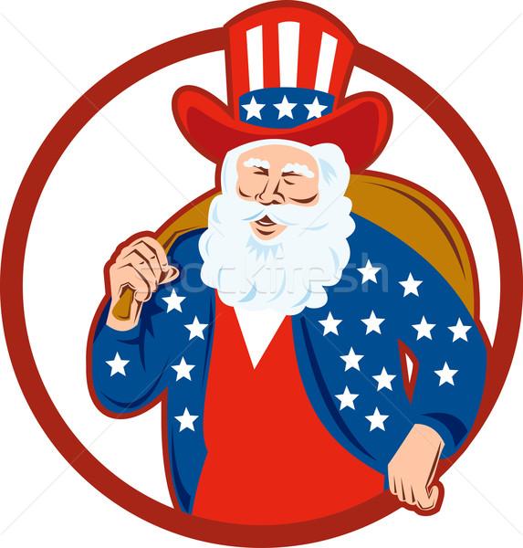 American Father Christmas Santa Claus Stock photo © patrimonio