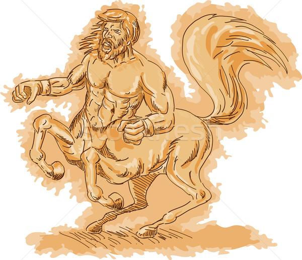 Centaur angry and rearing up Stock photo © patrimonio