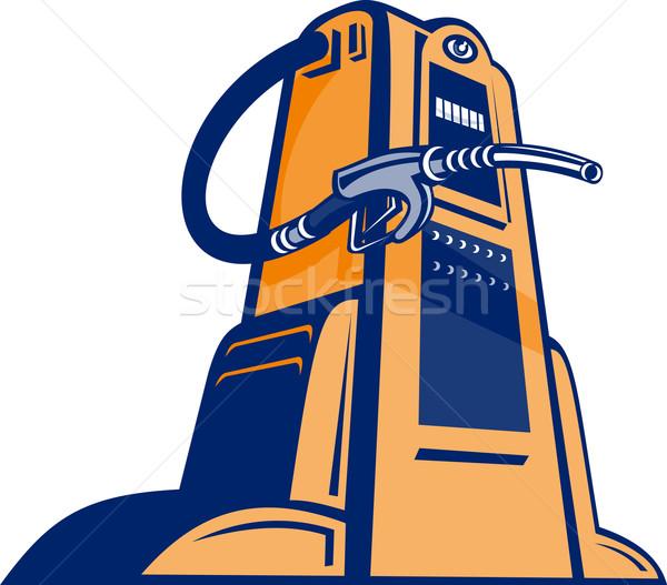 Retro Gasoline pump filling station nozzle Stock photo © patrimonio
