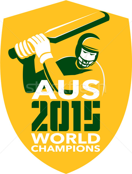 Australia Cricket 2015 World Champions Shield Stock photo © patrimonio