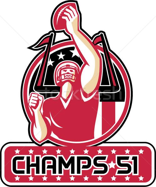 Football Champs 51 Atlanta Retro Stock photo © patrimonio