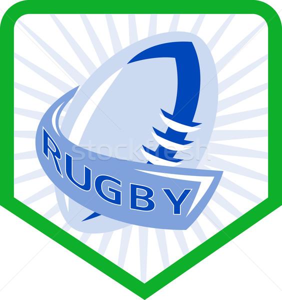 rugby ball shield Stock photo © patrimonio