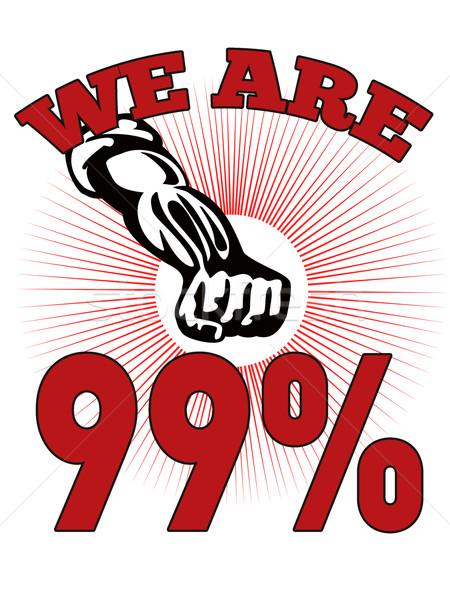 We are 99 % Occupy Wall Street American Worker Stock photo © patrimonio