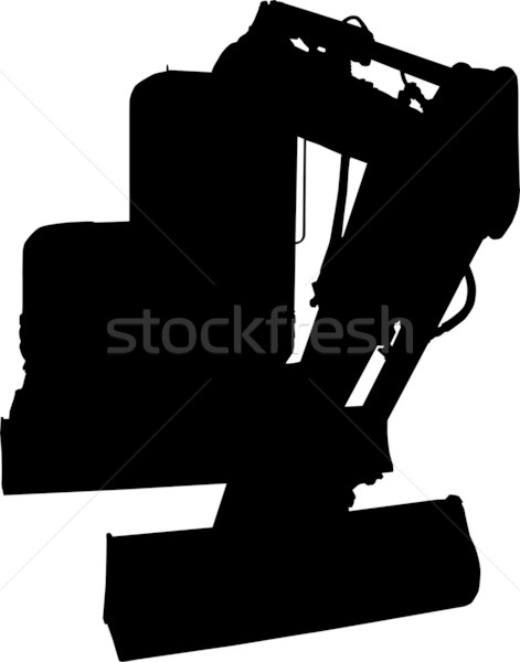 construction digger mechanical excavator Stock photo © patrimonio