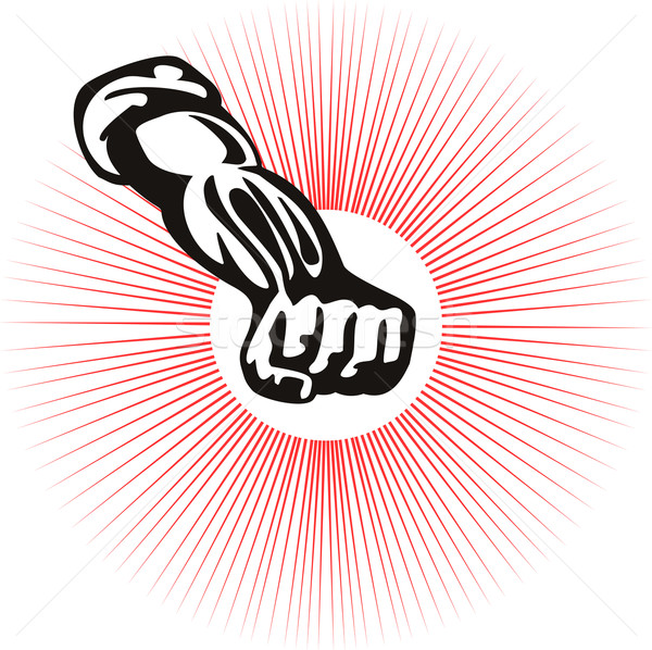 Clenched Fist Front View Stock photo © patrimonio