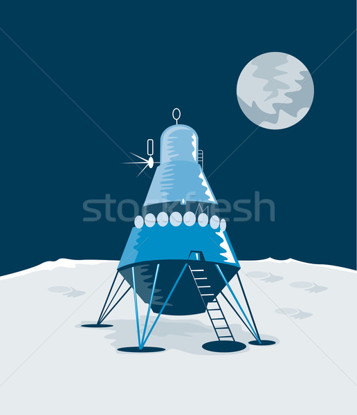 Modül ay örnek iniş yalıtılmış beyaz Stok fotoğraf © patrimonio