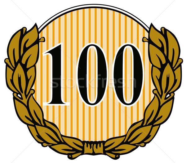 100 круга лавры листьев иллюстрация числа Сток-фото © patrimonio
