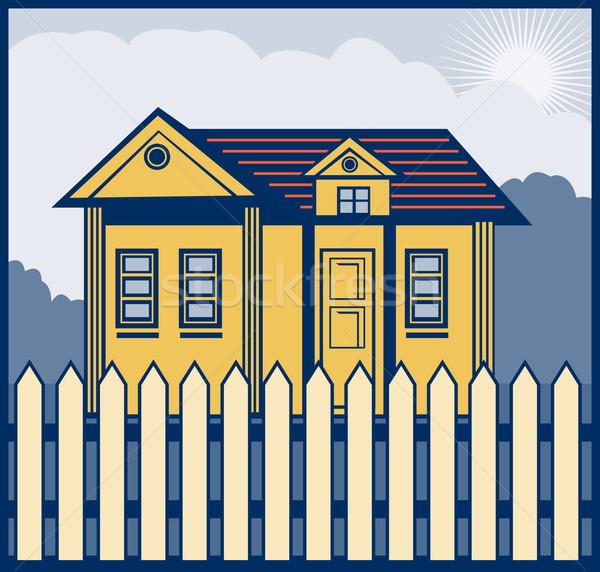 house with picket fence Stock photo © patrimonio