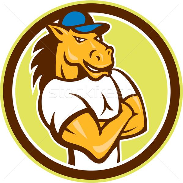馬 サークル 漫画 実例 セット ストックフォト © patrimonio