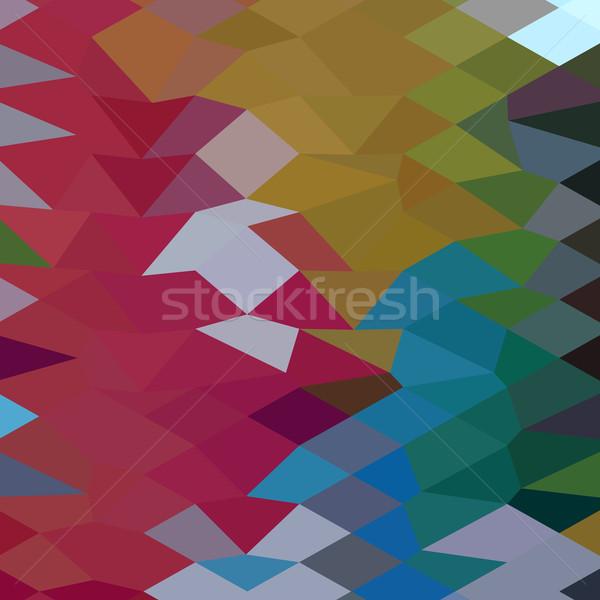 Gesztenyebarna absztrakt alacsony poligon stílus illusztráció Stock fotó © patrimonio