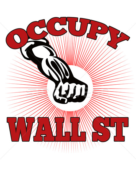 Wall Street americano trabajador estilo retro ilustración masculina Foto stock © patrimonio
