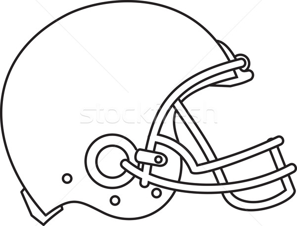 American Football Helmet Line Drawing Stock photo © patrimonio