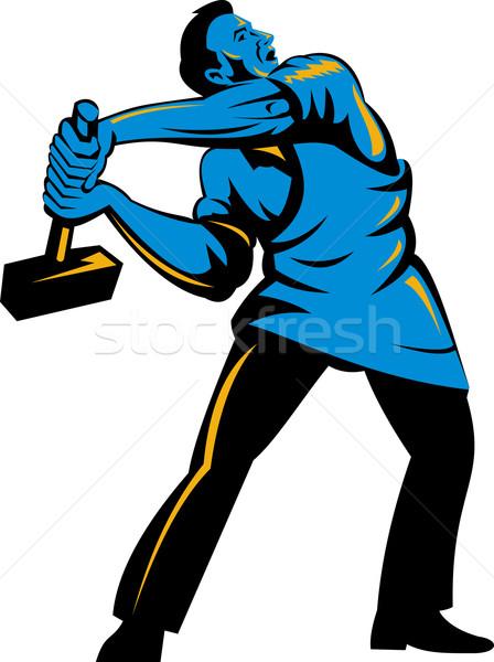 work with sledgehammer Stock photo © patrimonio