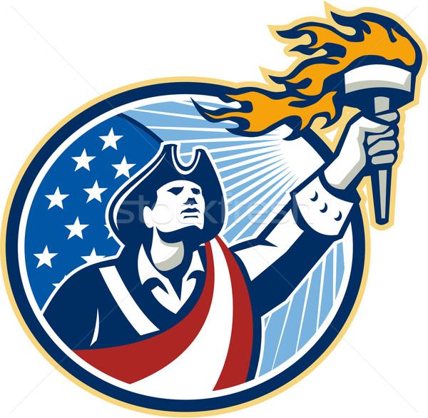 Amerykański patriota pochodnia gwiazdki Zdjęcia stock © patrimonio