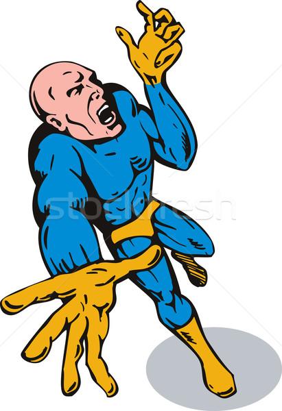Superhero reaching out Stock photo © patrimonio