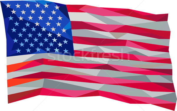 USA Flag Stars and Stripes Low Polygon Stock photo © patrimonio