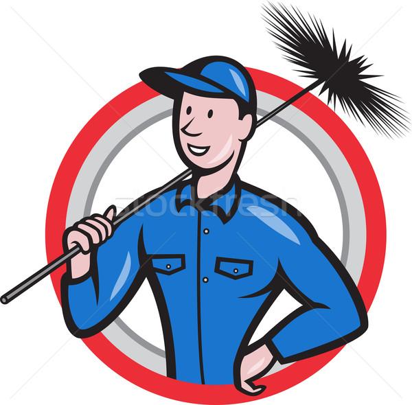 Chimney Sweeper Cleaner Worker Retro Stock photo © patrimonio