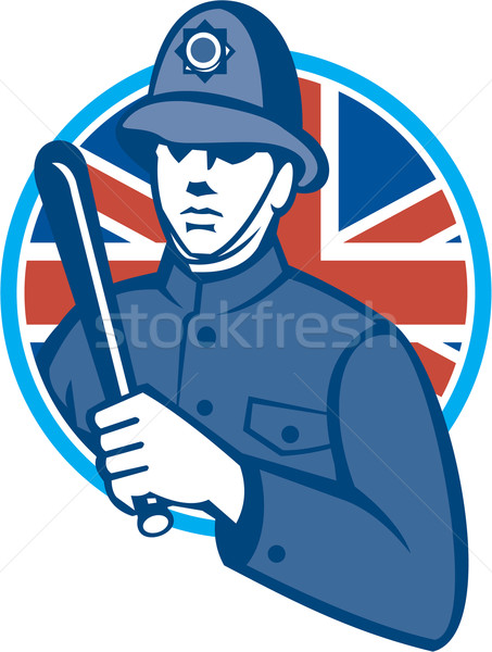 British Bobby Policeman Truncheon Flag Stock photo © patrimonio