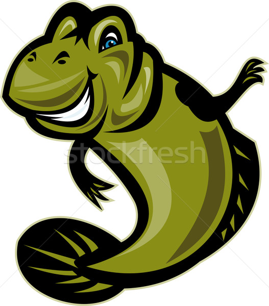 Mud skipper or goby fish cartoon Stock photo © patrimonio