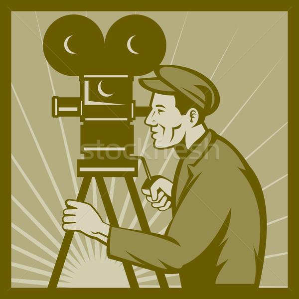 Vintage filme televisão filme câmera diretor Foto stock © patrimonio