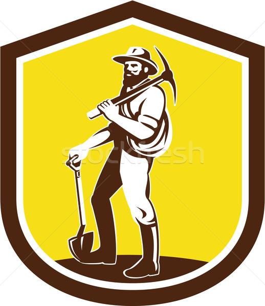 ストックフォト: 斧 · 肩 · レトロな · 実例