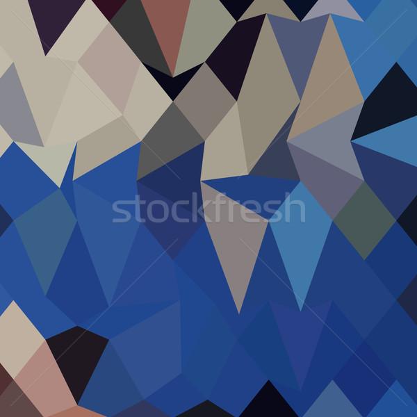 Bluebonnet Abstract Low Polygon Background Stock photo © patrimonio