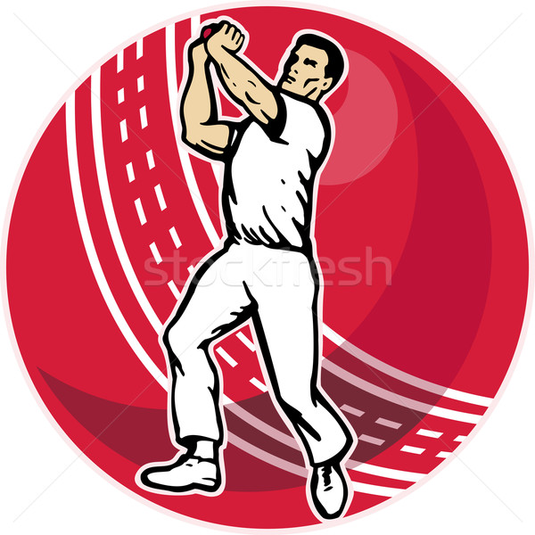 cricket bowler bowling ball Stock photo © patrimonio