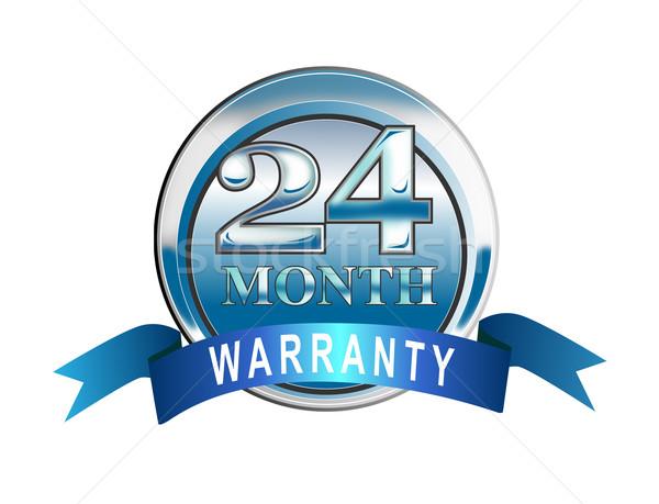 икона 24 месяц гарантия синий иллюстрированный Сток-фото © patrimonio