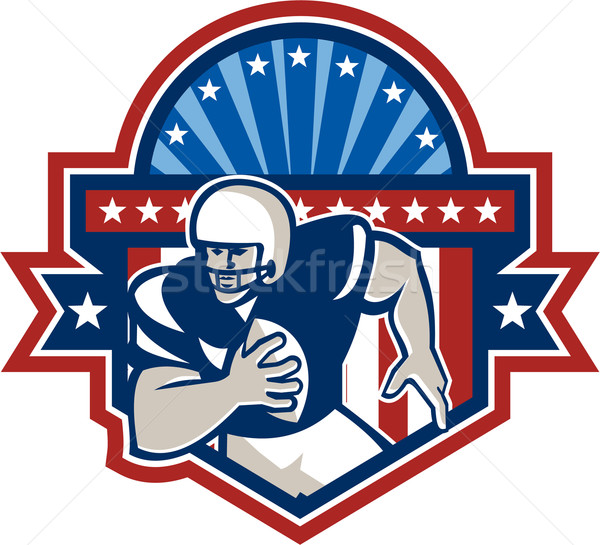 American Football QB Quarterback Crest Stock photo © patrimonio