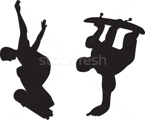 Skateboarder Silhouette Stock photo © patrimonio