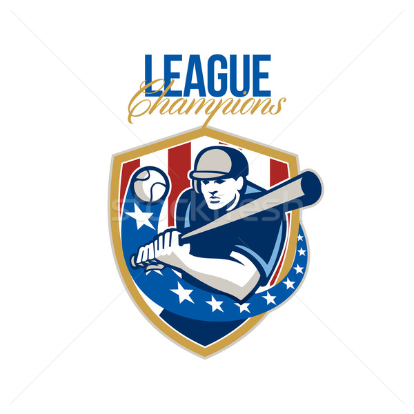 Baseball League Champions Retro Stock photo © patrimonio
