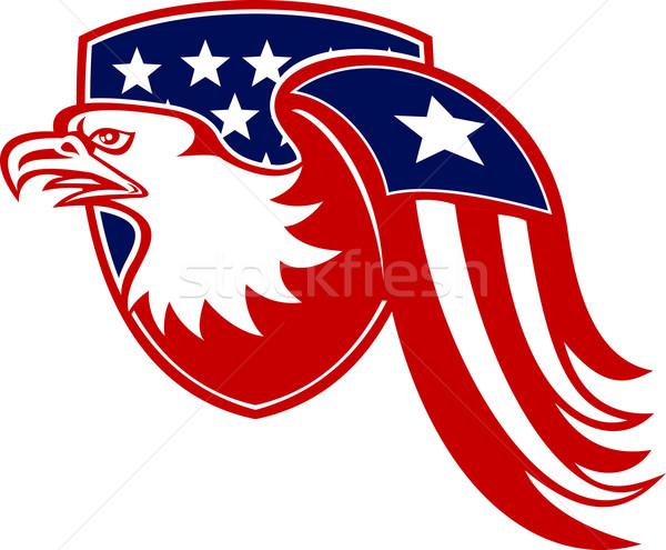 Amerikaanse adelaar sterren vlag schild Stockfoto © patrimonio