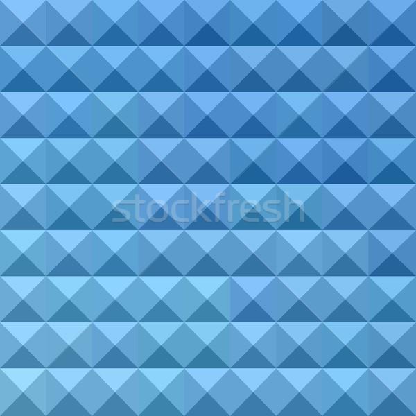 Mavi soyut düşük çokgen stil Stok fotoğraf © patrimonio