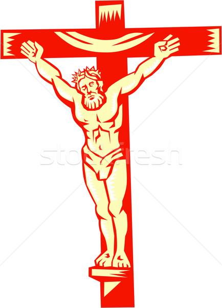 Jesús Cristo cruz ilustración frente establecer Foto stock © patrimonio