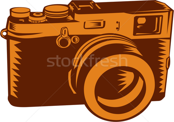 Camera 35mm Vintage Woodcut Stock photo © patrimonio